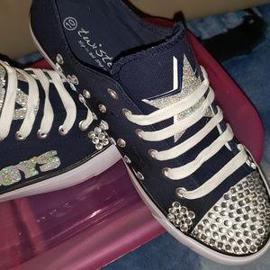 Shoes - Custom bling sneakers